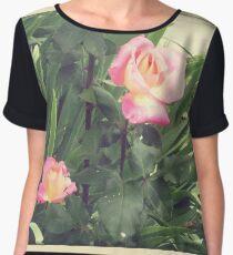 Faded roses Women's Chiffon Top