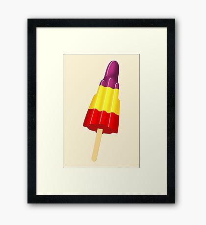 NDVH Iced Lolly Framed Print
