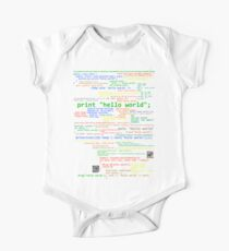 Hello World - Many Programming Languages (dark) One Piece - Short Sleeve