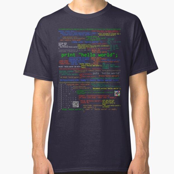 Hello World - Many Programming Languages (dark) Classic T-Shirt