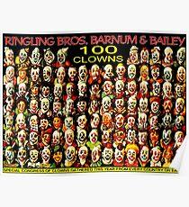 RINGLING BROS, BARNUM & BAILEY: Vintage Clown Print Poster