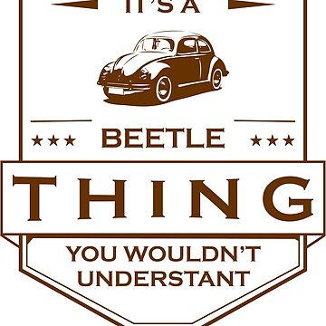 Its a beetle, vintage design by busyokoy