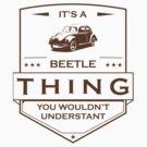 Its a beetle, vintage design by Eli Avellanoza