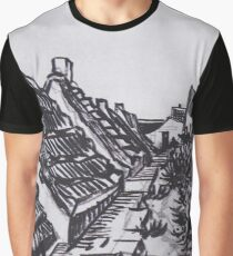 Street in Saintes-Maries by Vincent van Gogh Graphic T-Shirt