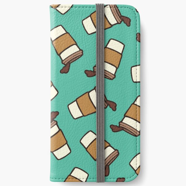 Take it Away Coffee Pattern iPhone Wallet