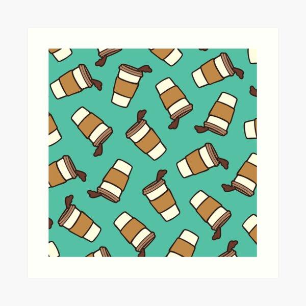 Take it Away Coffee Pattern Art Print