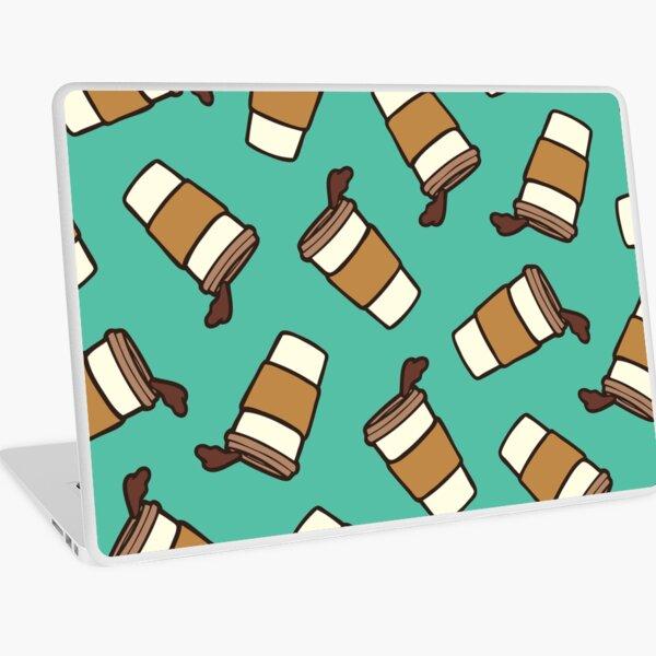 Take it Away Coffee Pattern Laptop Skin