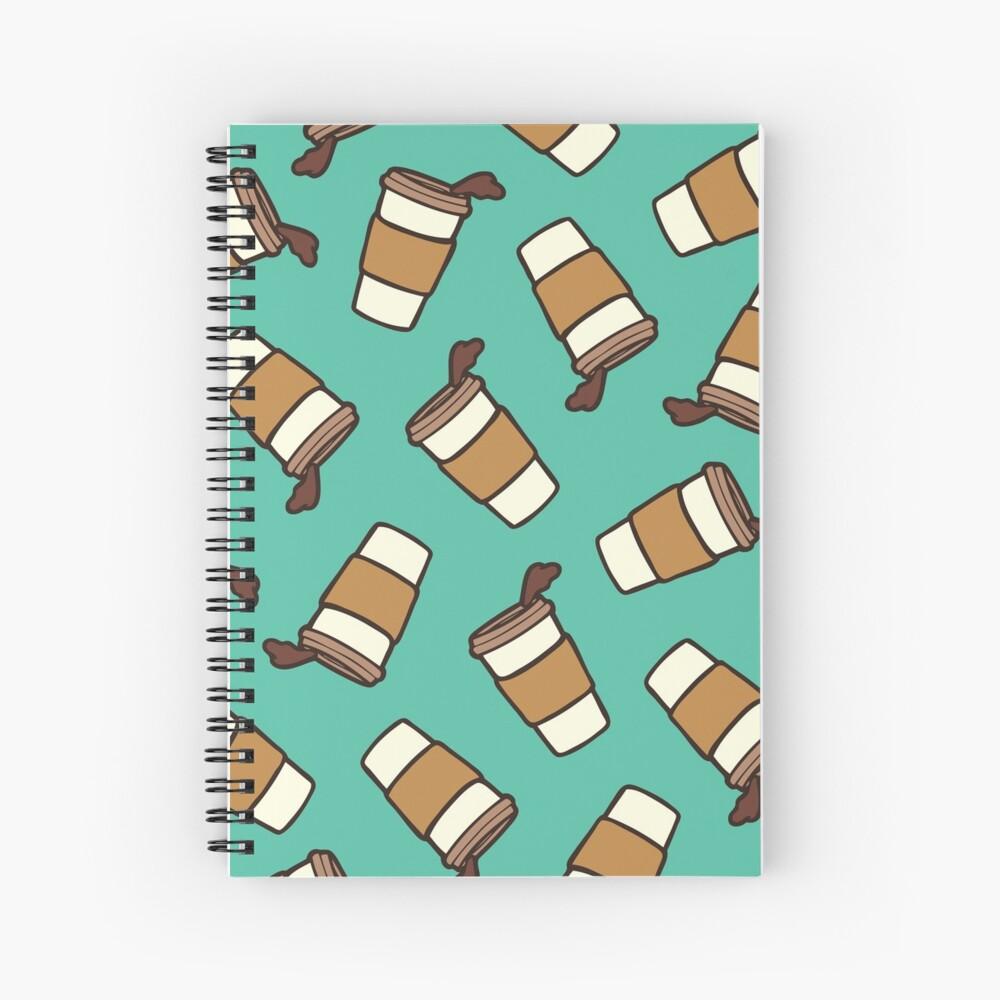 Take it Away Coffee Pattern Spiral Notebook