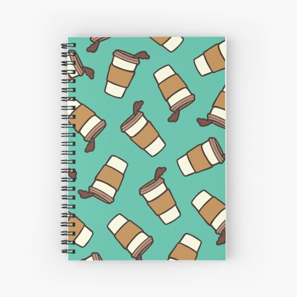 Take it Away Coffee Pattern Spiral Notebook