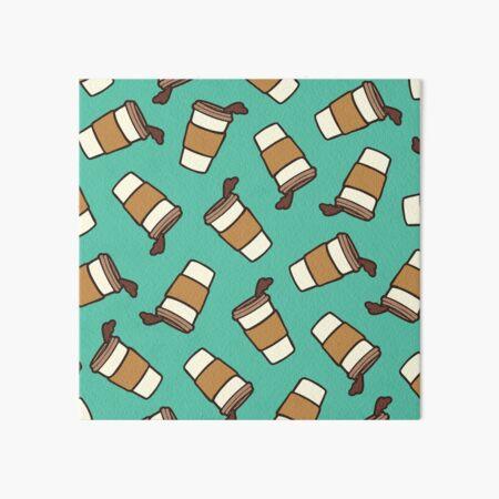 Take it Away Coffee Pattern Art Board Print