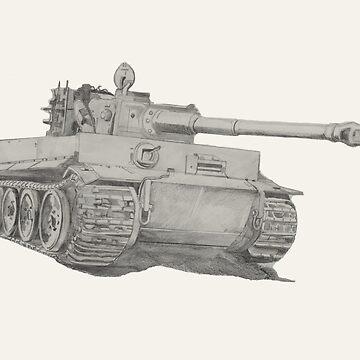 Tiger 1 tank by lizdomett
