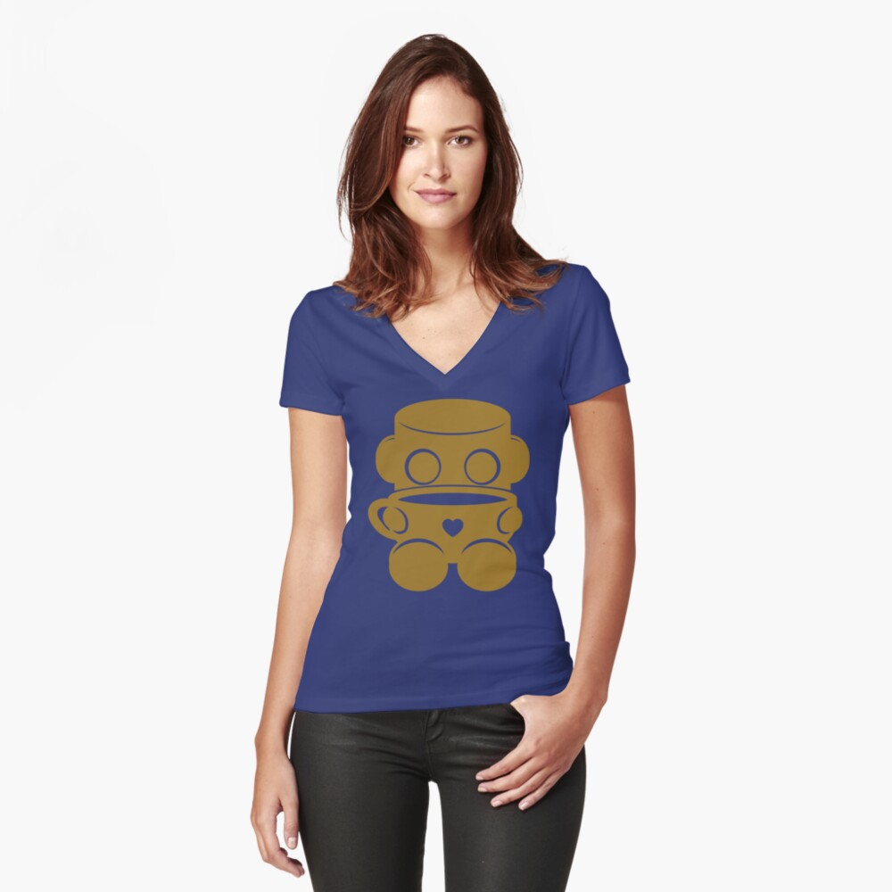 Tea & Story Time with the O'BOTs 2.0 Fitted V-Neck T-Shirt