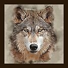 Wild Wolf Watercolor by TinaGraphics