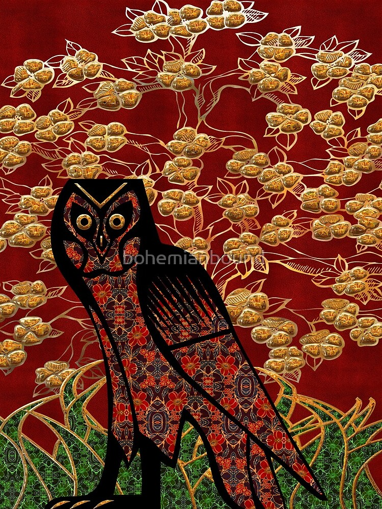 Owl Tapestry by bohemianbound