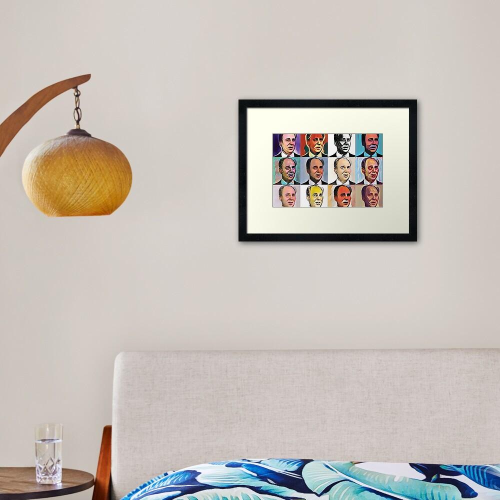 John Daker - Multicolour FanPop Framed Art Print