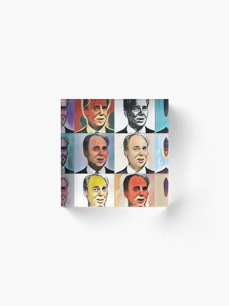 Alternate view of John Daker - Multicolour FanPop Acrylic Block