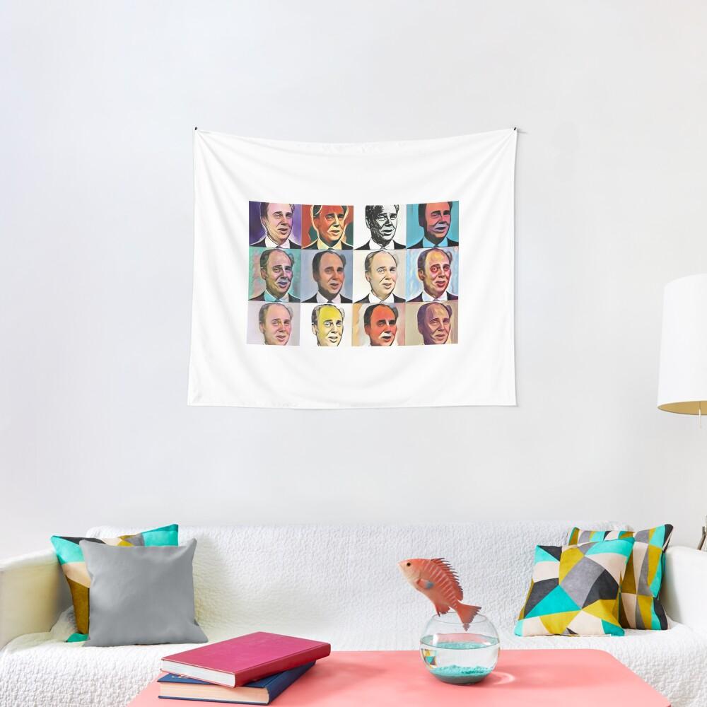 John Daker - Multicolour FanPop Tapestry