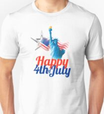 American 4th of July Unisex T-Shirt