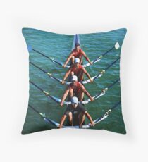 Flatwater Rowers Throw Pillow