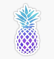 PINEAPPLE BLUE PURPLE WATERCOLOR Sticker