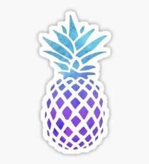 PINEAPPLE BLUE PURPLE WATERCOLOR Sticker