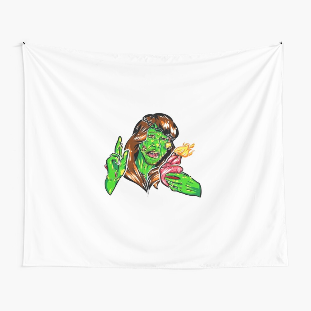 Zombiesus Wall Tapestry