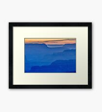 The South Rim Of Grand Canyon National Park At Sunset - Photo Framed Print