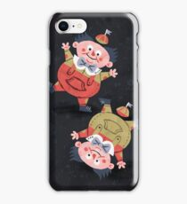 Tweedledum & Tweedledee - Alice in Wonderland iPhone Case/Skin