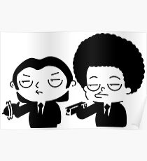 Stewie and Ralo - pulp fiction Poster