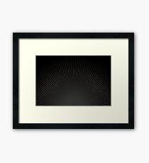 Dark burst Framed Print