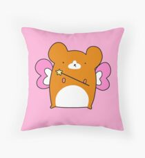 Fairy Hamster  Throw Pillow