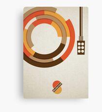 Modernist Vinyl Canvas Print