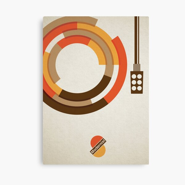Modernist Vinyl Canvas Print
