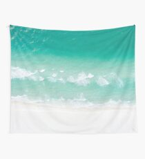 Ocean Shore Turquoise Green Beach Wall Tapestry