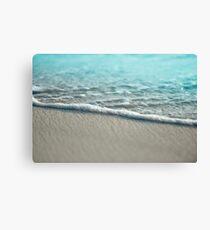 Sea Foam Sand Beach Canvas Print
