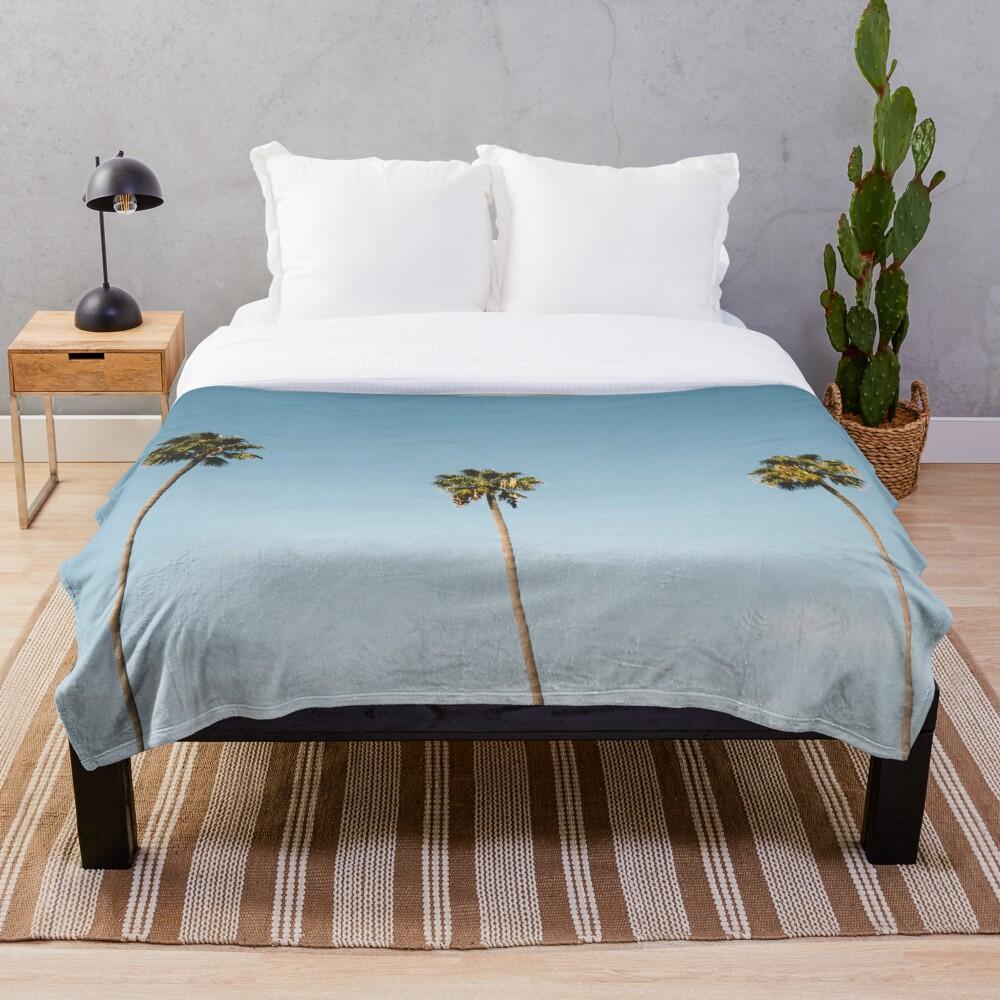 Tres palmeras Blue Sky California Manta