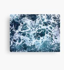 Ocean Sea Splash Churning Waves Canvas Print
