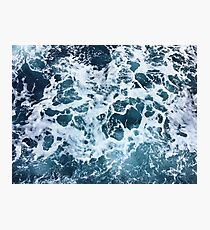 Ocean Sea Splash Churning Waves Photographic Print