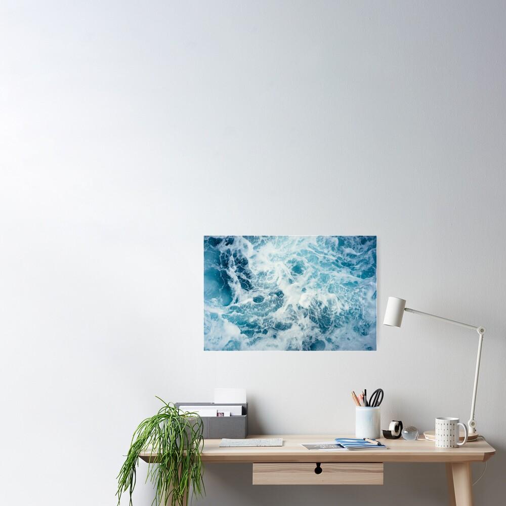 Sea Waves in the Ocean Poster