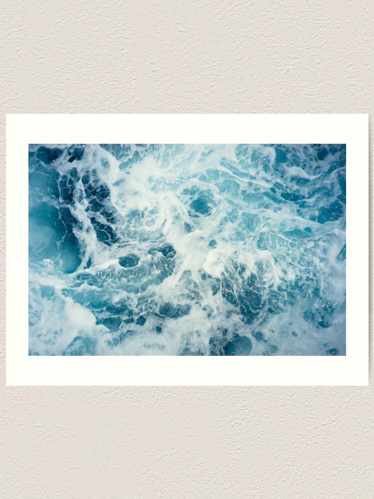 Alternate view of Sea Waves in the Ocean Art Print