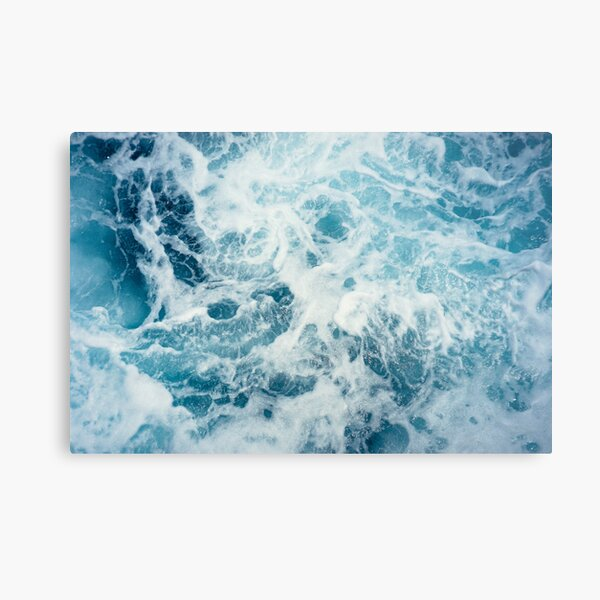 Sea Waves in the Ocean Metal Print