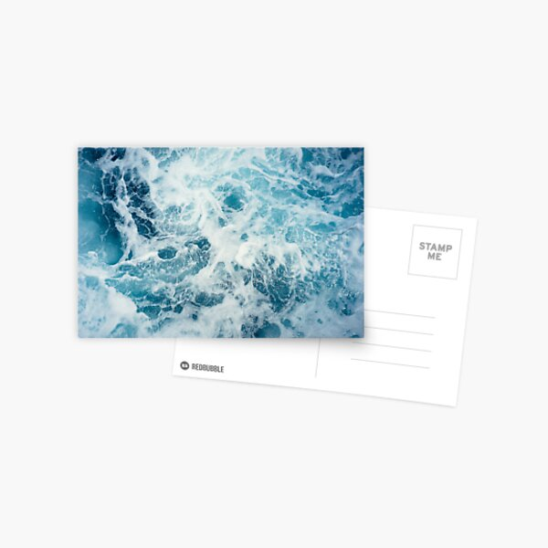 Sea Waves in the Ocean Postcard