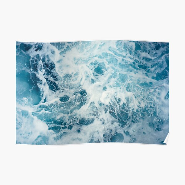 Sea Waves in the Ocean Poster