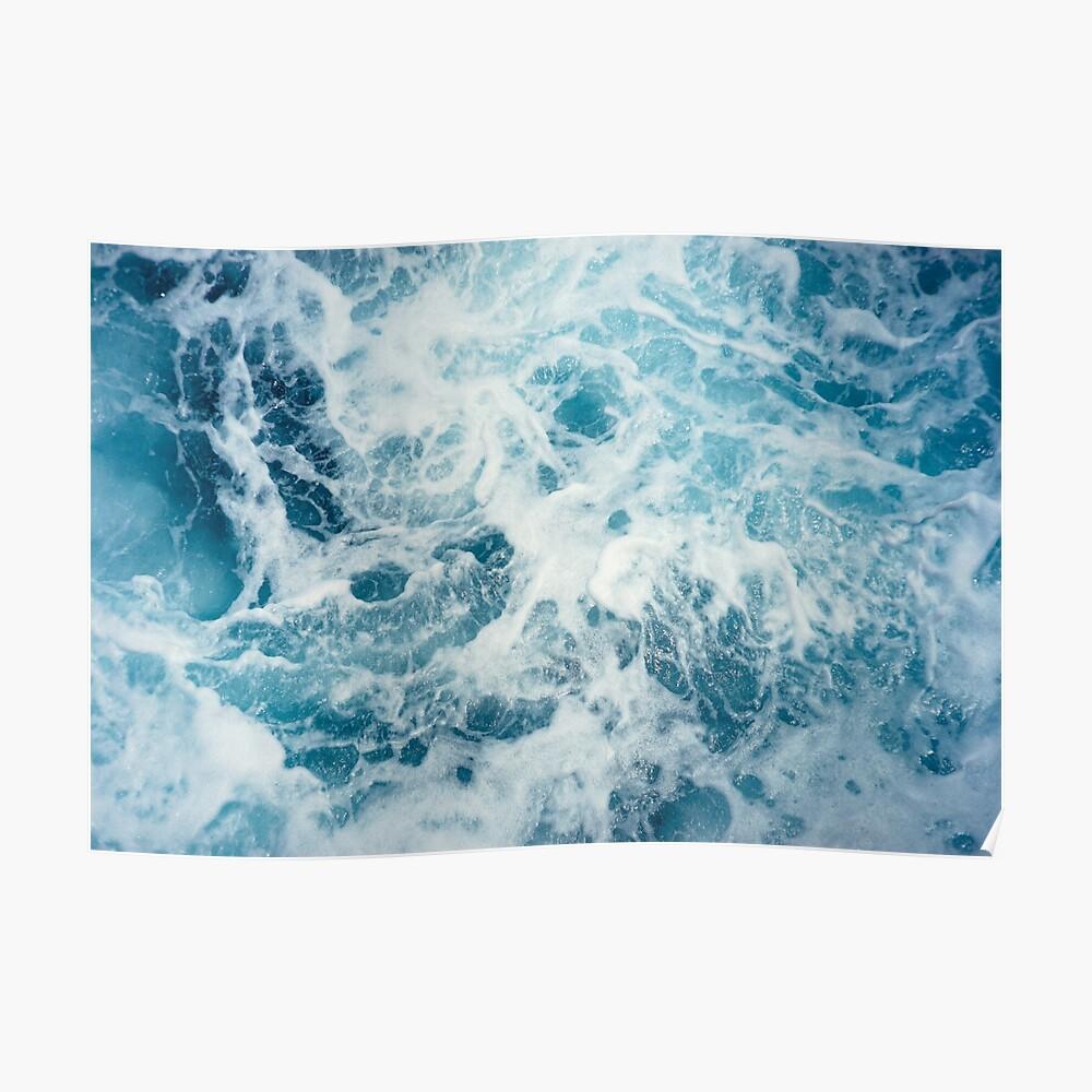 Meereswellen im Ozean Poster