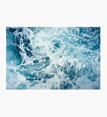 Lámina fotográfica Olas del mar en el océano