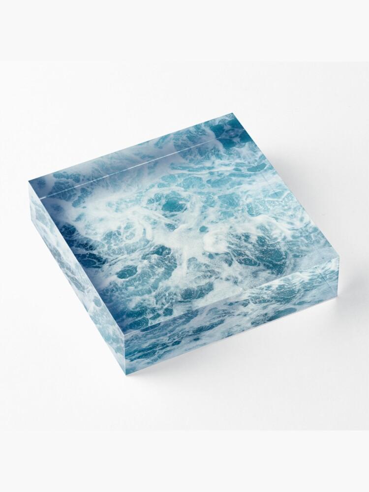 Alternate view of Sea Waves in the Ocean Acrylic Block