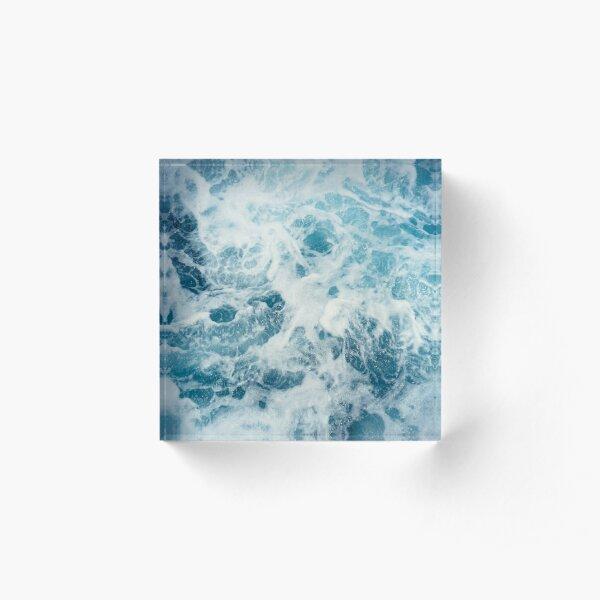 Sea Waves in the Ocean Acrylic Block