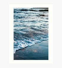Waves Crash on the Beach Art Print