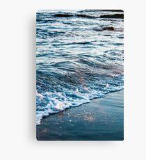 Waves Crash on the Beach Canvas Print