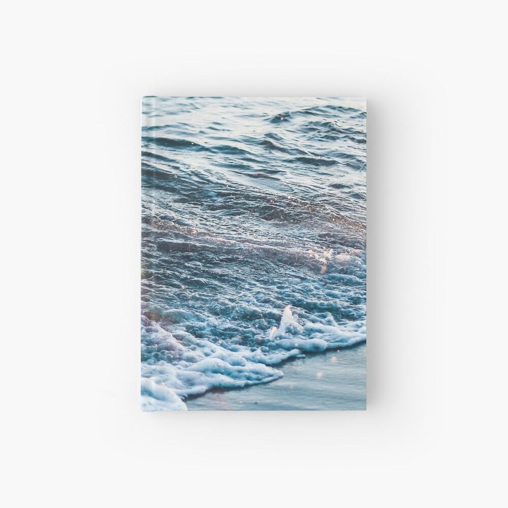 Waves Crash on the Beach Hardcover Journal